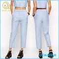 Serviço OEM New chegada bolsos laterais verão feminina lápis calças femininas calças de algodão