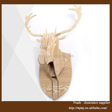 Wooden Horned Deer wall stickers home decor made in China
