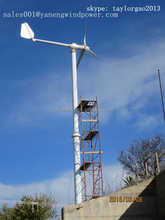 pitch regulated 3 blades for 5kw wind turbine , 5kw home wind power generator
