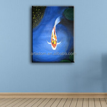 New design wall hanging modern canvas fish art painting