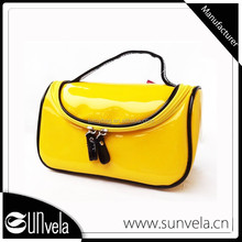 Manufacturer Colorful Clear Clean Washing Shinny Suitable PVC Cosmetic Bag