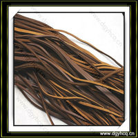 3mm leather strips for bracelet brown