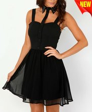lady dress cotton design with padded insert to the chestD-1156