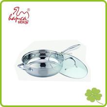 Saute pan, frying pan, stainless steel pan