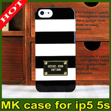 BRAND NEW Michael Kors MK Fitted Hard Shell Case for Apple iPhone 5 iphone 5S shcockproof mk case for iphone 5 iphone 5g
