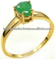 Emerald silver Gold Plated jewellery wholesale,wholesale silver jewellery,925 sterling silver ring with genuine gemstone