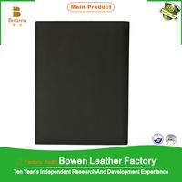 ring binder file folder with flap / ring binder document folder zipper folder / best quality advertising folder in leather