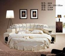 Hot-selling furniture bedroom sets round bed