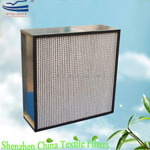 99.99% HEPA filter with metal box frame deep pleated filter