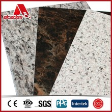 aluminium plasitc composition imitation marble sheet