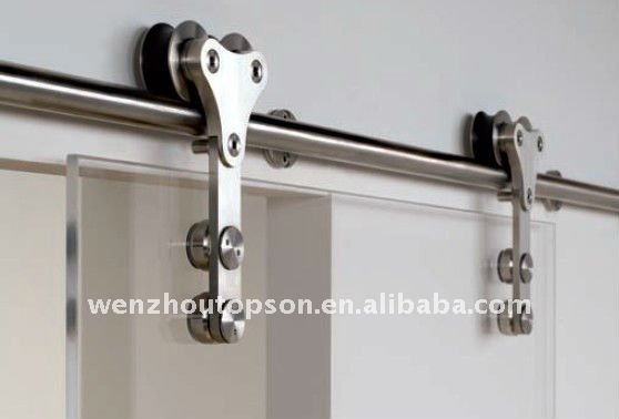 Glass Sliding Barn Door Closet Hardware Set View Barn Door Hardware
