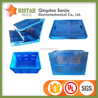 plastic folding boxes without lid factory price and quality folded crate