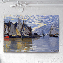 Islands and Boats Off Shore Seascape Painting