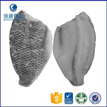 Frozen IQF High Quality Baby Part Tilapia Fillet Skin-on Boneless Fish Meat China