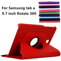 new products tablet covers for samsung galaxy tab a t550 9.7 inch tablets cases Rotate 360 degrees tablet pc cover 9.7''