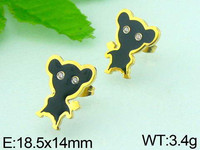 high quality wholesale stainless steel girl earrings