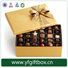 Luxury custom ribbon decorative chocolate box with compartment