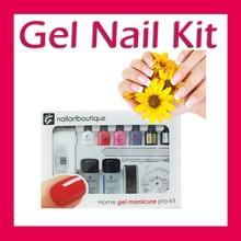 with cuticle oil gel nail kit, nail care kit, nail kit with lamp