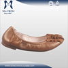 Flexible feature fancy girls flat ballet leather ballet shoes