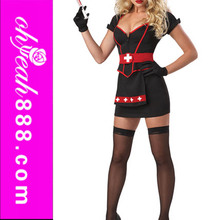 Fancy design high quality carnival adult womens sexy nurse costume