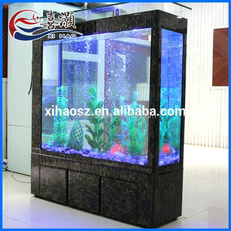China supplier different colors open style floor bar glass for Floor fish tank