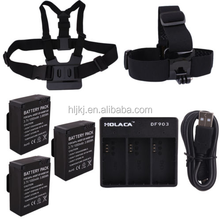 Holaca Accessories Chest Harness with Head Strap Mount and Battery and Charger for GoPro Hero 3 3+