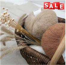 Popular tejer a mano perú mohair / nylon / hilados de lana para tippet venta al por mayor