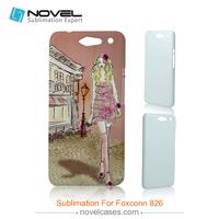 New arrival wholesale 3d balnk sublimation phone case for Foxconn 826