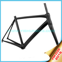 2016 YISHUNBIKE latest high quality carbon fiber 830g super light weight carbon frame carbon road bicycle YS-FM035