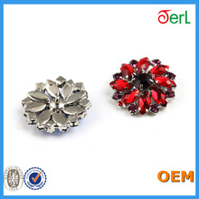 Hot Colorful Resin Decorative Crystal rhinestone buttons