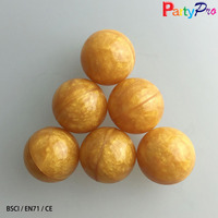 China Factory EN71 1200pcs/lot 32mm wholesale ball pit balls gold bouncy balls