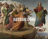 Johann Friedrich Overbeck - Christ Escapes the Pharisees, 19th century Neoclassicism Decorative Painting