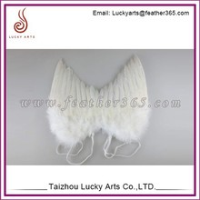 Lucky Arts Wholesale colorful halloween decorative adult large feather angel wings