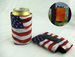 Car Can Cooler, Car Can Cooler With SGS Approved Material Screen Print Sublimation Round Neoprene Magnetic Car Can Cooler