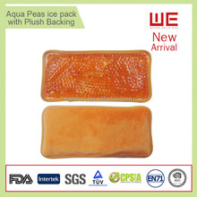 Reusable hot and cold gel ice packs with plush backing