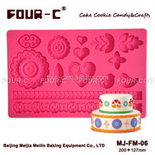 Folk silicone cake molds, fondant moulds,high quality cake decorating supplies