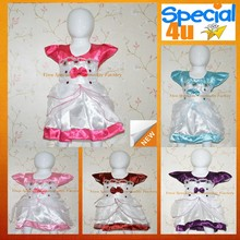 Cheap Satin factory price girl summer baby dresses designs CLBD-542B