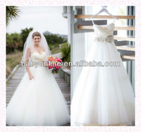2014 New Style Designer Strapless Layers Tulle White Modest Womens Wedding Dresses With Veil 52178