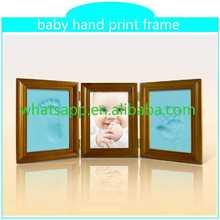 2015 new baby hand print frame keepsake footprint stud earring