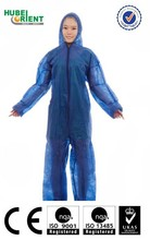 Sterile PP hospital coveralls microporous surgical work suit with hood