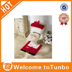 2015 Christmas Decoration Santa Toilet Seat Cover and Rug Set