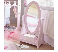 Lovely Children Wooden Standing Mirror Dresser Kids Furniture