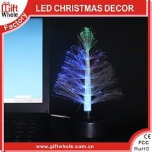 Mini tree shape small night lights USB LED christmas tree with fiber optic