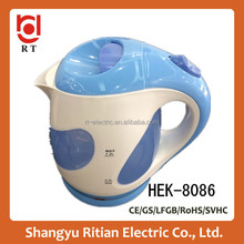 wholesale 2015 hot selling kitchen or hotel appliances plastic cordless electric water kettle