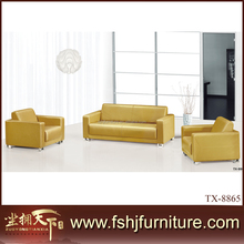 Leather sofa metal legs maroon sofa art-deco furniture TX-8865