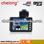 2012 hot sell 2.8 inch 270 degree rotable Camera mini vehicle hd dvr