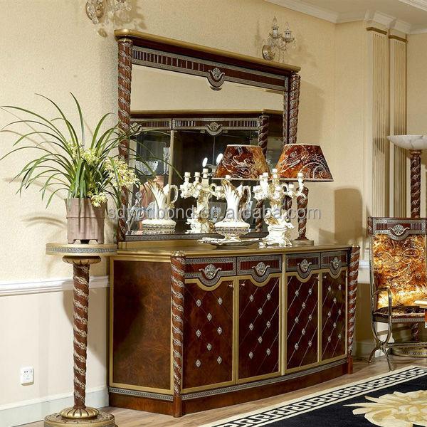 0026 italia comedor clasicos juego de muebles de madera/vidrio ...