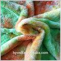 100% poliéster impressão em tecido plush para fazer brinquedos macios tecido estampado