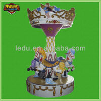3 Seats Coin Operated amusement rides carousel horse for sale/carousel horse sale prices/ Kids Carousel