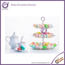 k5935 transparent Handmade Clear Glass Cake Stands for Home Decoration